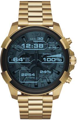 Diesel On Men's Full Guard Gold-Tone Stainless Steel Bracelet Smart Watch 48mm