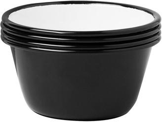 Falcon Set of 4 Bowls - Coal Black