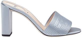 Fendi logo embroidered sandals