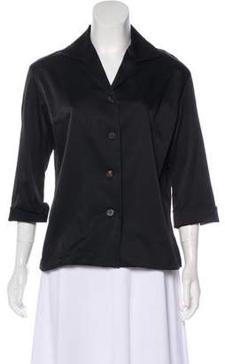 Issey Miyake Long Sleeve Button-Up Top