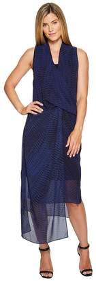 Nic+Zoe Blue Streaks Dress Women's Dress