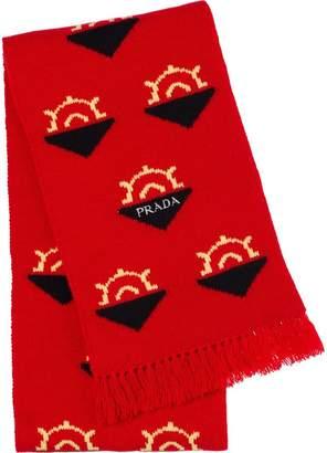 Prada helm intarsia scarf