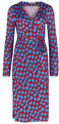 Diane von Furstenberg Julian Printed Silk Wrap Dress