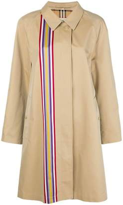 Burberry collegiate stripe gabardine car coat