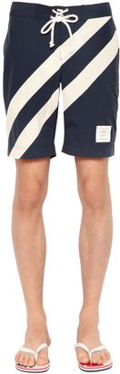 Diagonal Stripes Nylon Swim Shorts $490 thestylecure.com