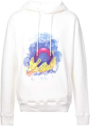 Off-White world hand hoodie