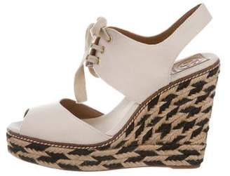 f6751ff73b444 Pre-Owned at TheRealReal · Tory Burch Canvas Espadrille Wedges