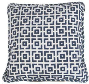 Geometric Pillow - Blue