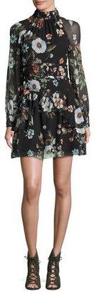 NICHOLAS Vintage Floral High-Neck Mini Dress $595 thestylecure.com