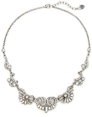 Ben-Amun Deco Crystal Silver Necklace