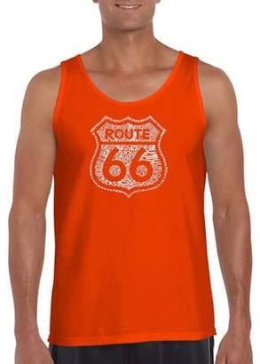 Los Angeles Pop Art Men's Tank Top - Get Your Kicks On Route 66