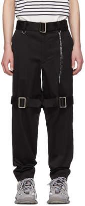 mastermind WORLD Black Straps Trousers