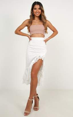 9bf1053f76 Showpo Summer midi skirt in white - 6 (XS) Engagement Dresses