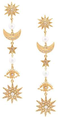 Oscar de la Renta star drop earrings
