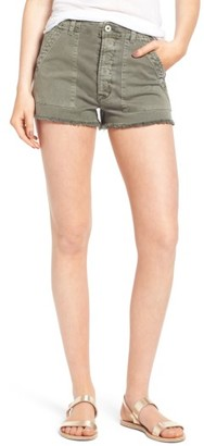 Women's Hudson Jeans Mka Military High Waist Shorts $165 thestylecure.com