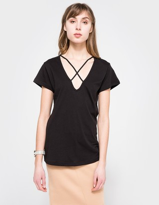 Cross Tee in Black $72 thestylecure.com