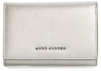 Marc JacobsWomen's Marc Jacobs Metallic Leather Wallet - Grey