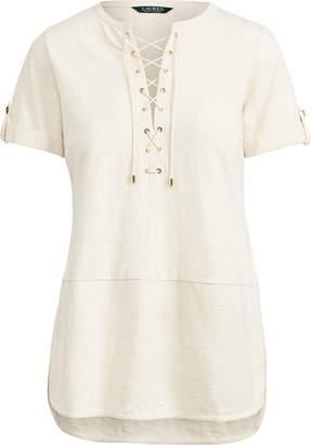 Ralph Lauren Lace-Up Cotton Top