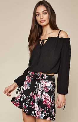 La Hearts Ruffle Tie Skirt
