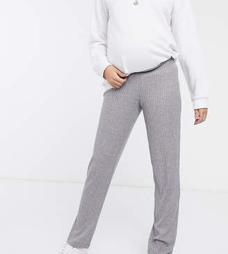 Mama Licious Mama.Licious Mamalicious maternity knitted lounge trousers in grey