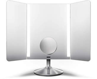 Simplehuman Wide-View Rechargeable App-Enabled Stainless Steel Sensor Mirror