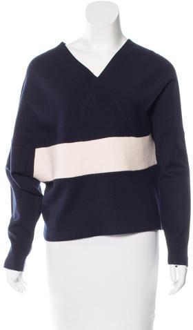 Chloé Chloé Wool-Blend V-neck Sweater
