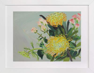 Pincushion Protea Painting Art Print