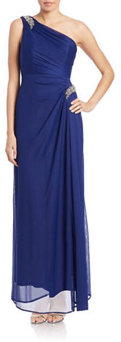 Alex Evenings Alex Evenings Petite Embellished One-Shoulder Gown