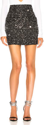 Balmain Side Pocket Embellished Mini Skirt