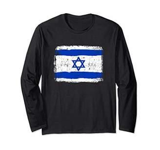 Israel Flag Long Sleeve Distressed Vintage
