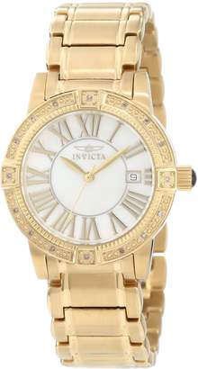 Invicta Women's 13959 Angel Mother-Of-Pearl Dial Diamond Accented Watch