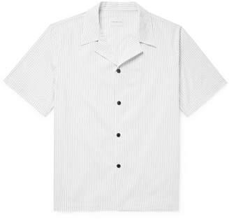 Simon Miller Camp-Collar Striped Cotton Shirt
