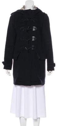 Burberry Wool Nova Check-Lined Coat