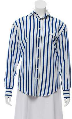 Ralph Lauren Black Label Striped Silk Top