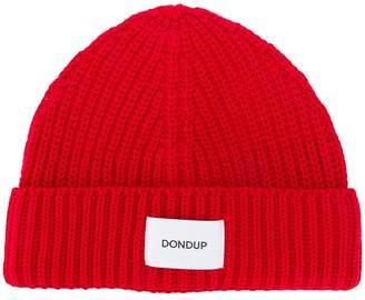 Dondup logo patch beanie