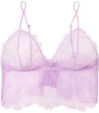 Anine Bing Stretch-lace Soft-cup Triangle Bra