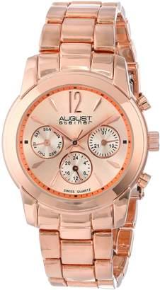 August Steiner Women's AS8087RG Analog Display Swiss Quartz Watch