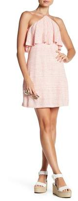 Splendid Striped Halter Linen Blend Dress