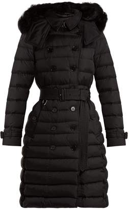 Burberry Dalmerton shearling-hood quilted coat