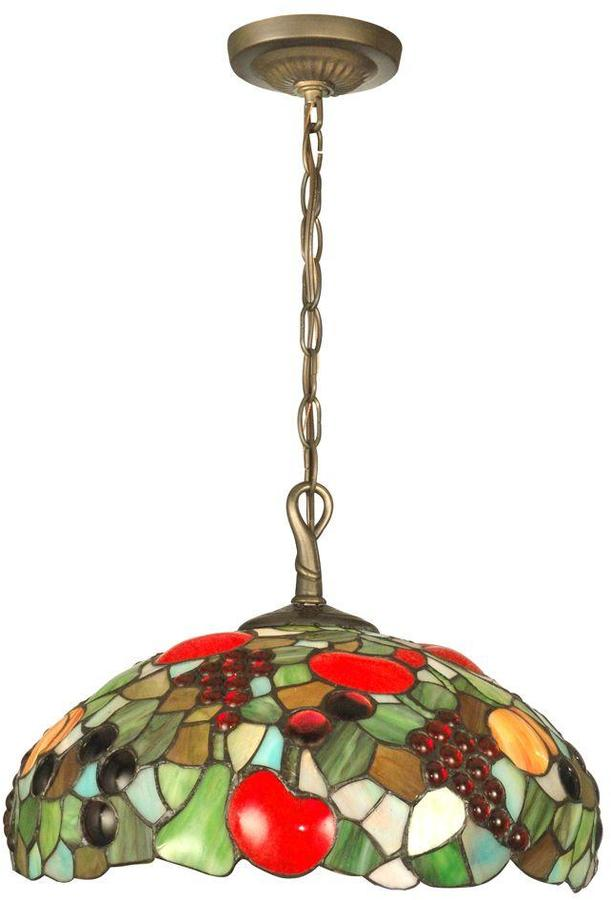 Dale Tiffany Fruit with Jewels 1-Light Antique Brass Hanging Pendant