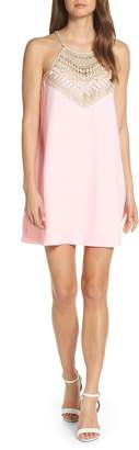 Lilly Pulitzer R) Embroidered Yoke Shift Dress