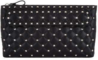 Valentino Leather Rockstud Spike Clutch Bag