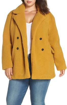 BP Textured Double Breasted Coat