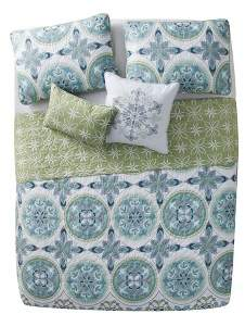 VCNY Citron Vandeliss Printed Medallion Quilt Set - VCNY®