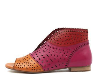 Django & Juliette Pitliv Orange-fuchsia- Sandals Womens Shoes Casual Sandals-flat Sandals