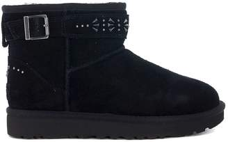 UGG Jadine Suede Leather Ankle Boots With Studs And Buckles