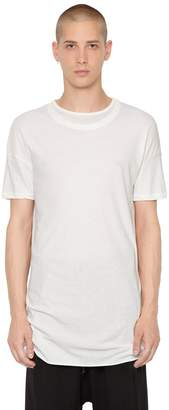 Isabel Benenato Layered Collar Cotton Jersey T-Shirt