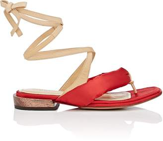 Mari Giudicelli Women's Hana Satin & Leather Sandals