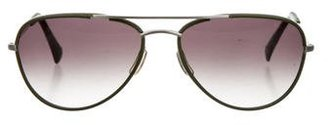 Paul Smith Leather Aviator Sunglasses $65 thestylecure.com