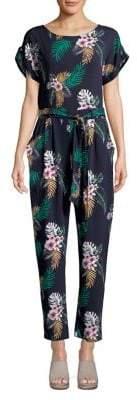 Dorothy Perkins Tropical Short Sleeve Jumpsuit